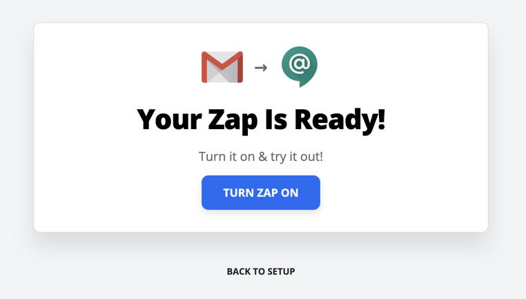 Zap is ready