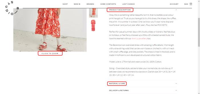 A screenshot from the Studio B webmain site