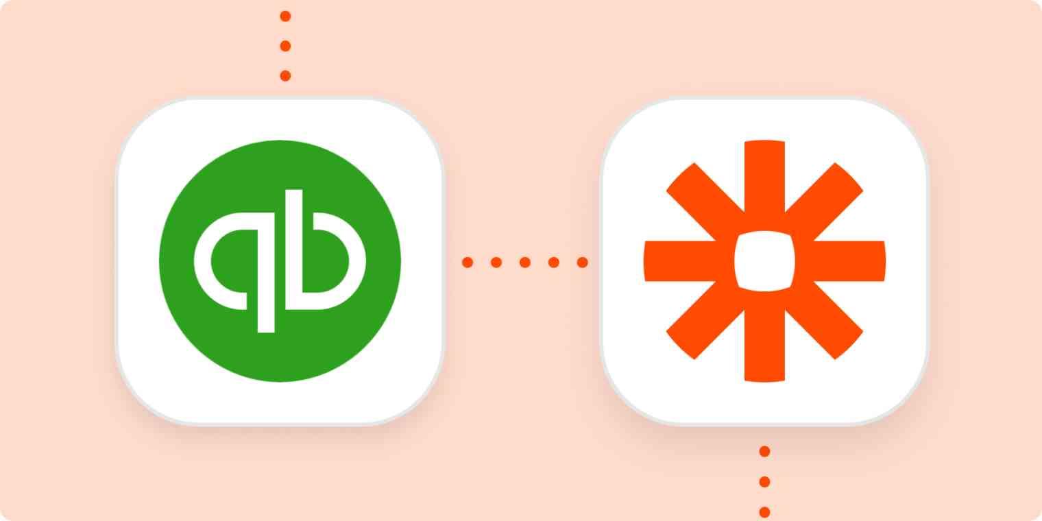 The QuickBooks Online and Zapier logos.