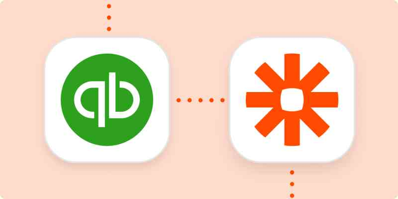 The QuickBooks Online and Zapier logos.