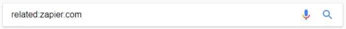 Google search for related:zapier.com