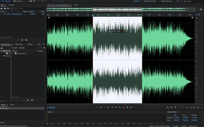 Adobe Audition CC interface