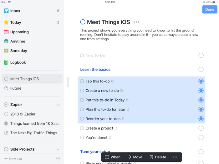 Things for iPad