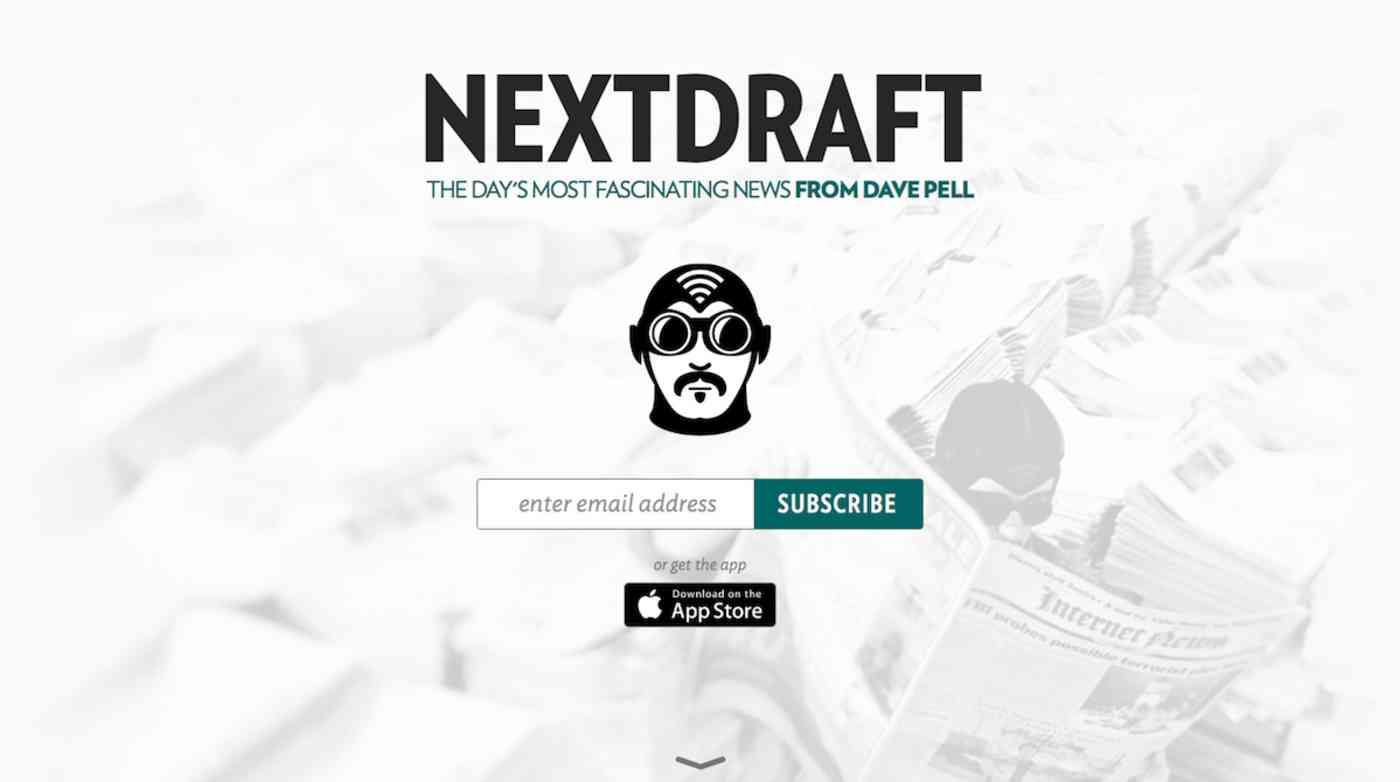 Next Draft email newsletter