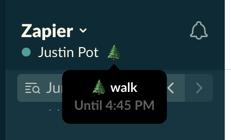 My new Slack status