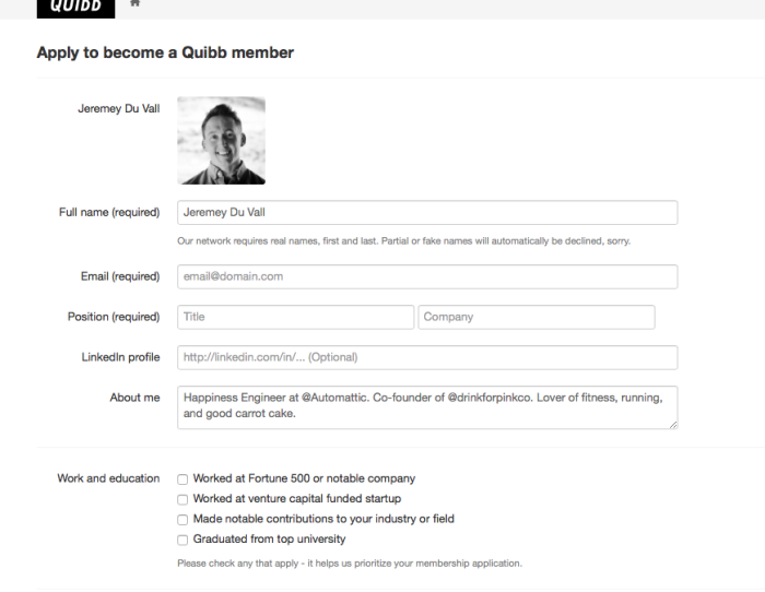 Quib profile