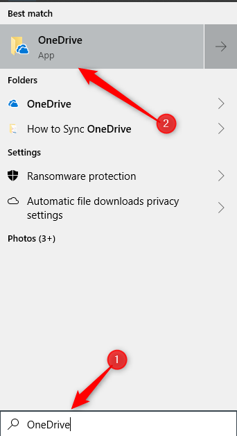 Navigate to the OneDrive app