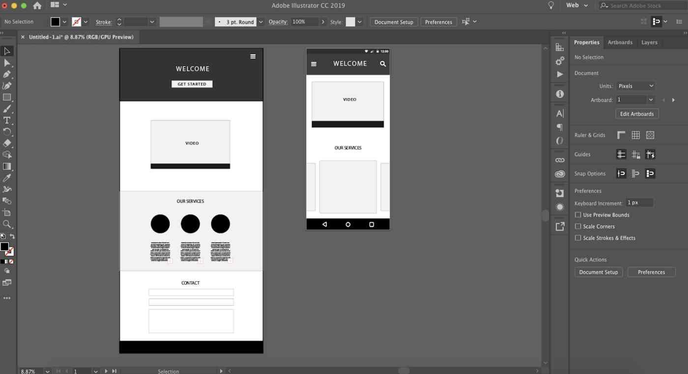 Adobe Illustrator interface