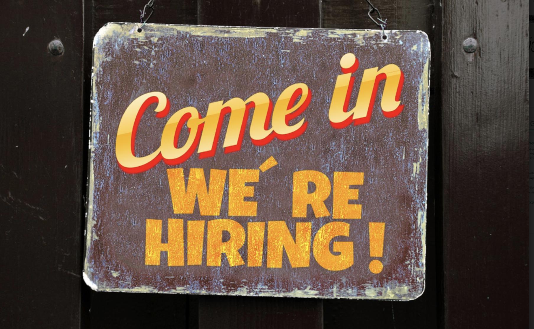 hiring sign