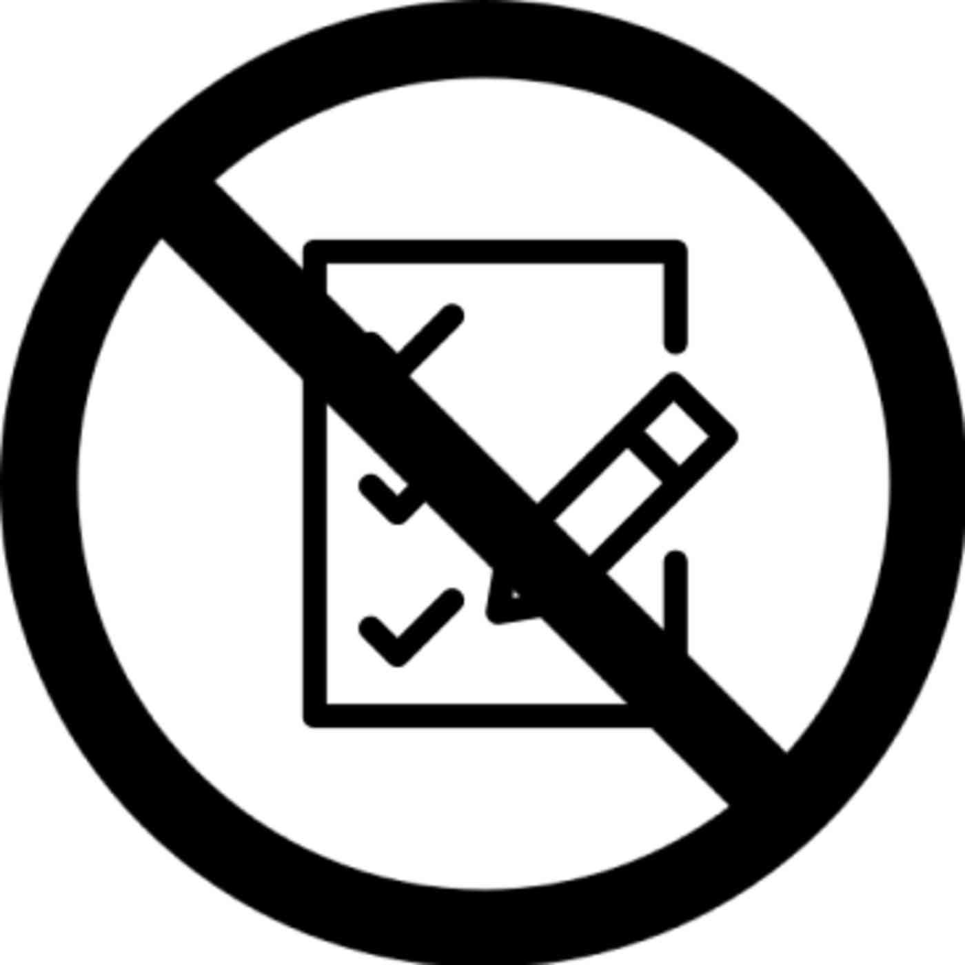 Lista de verificación sin símbolo encima