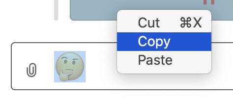 Copying emoji in Slack