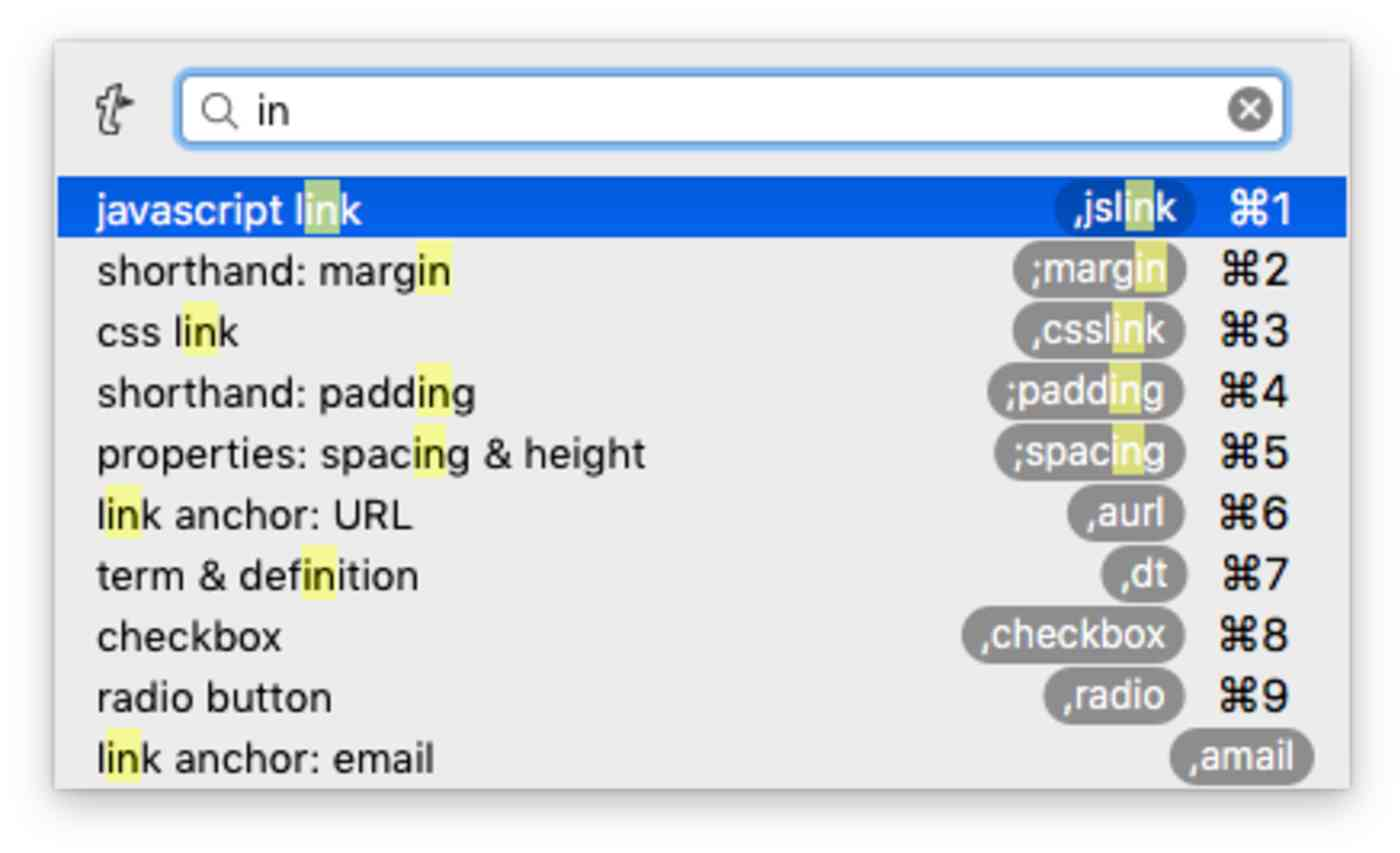 Search text expanders