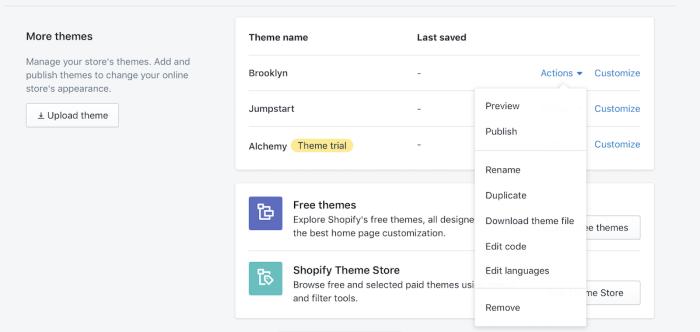 Select Shopify Theme