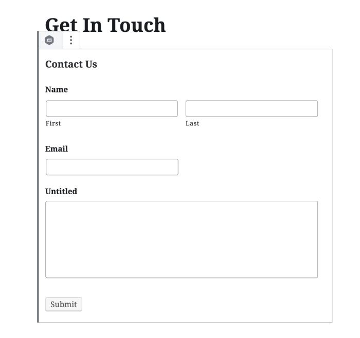 Gravity Forms está integrado en el editor
