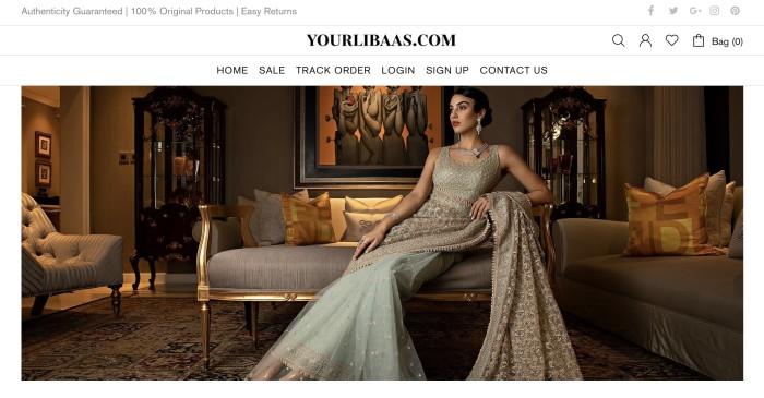 The YourLibaas website