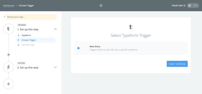 Zapier Typeform