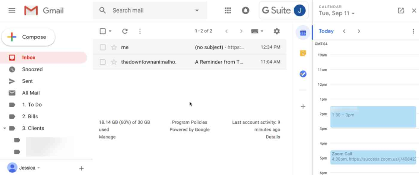 Gmail G Suite account