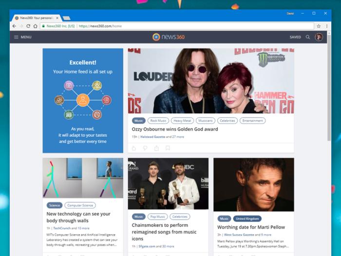 News360 screenshot