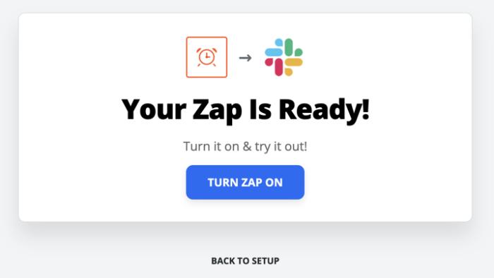 Turn on your Zap in Zapier