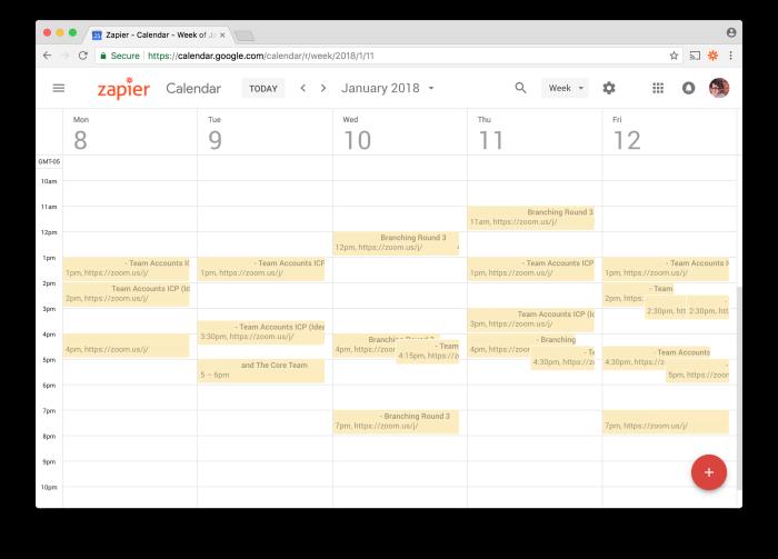 UX Research shared Google Calendar