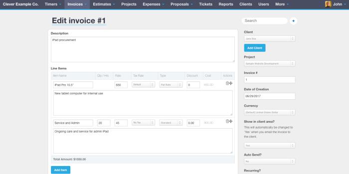 Invoice workflow in Bill.com