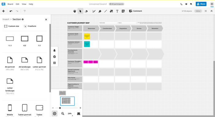 Conceptboard Interface.