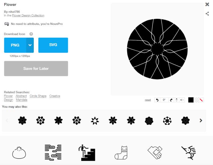 Noun Project screenshot