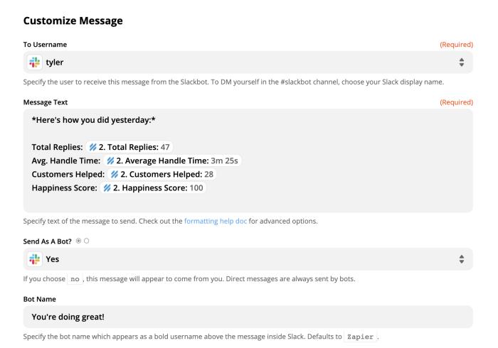 Send myself a Slack message