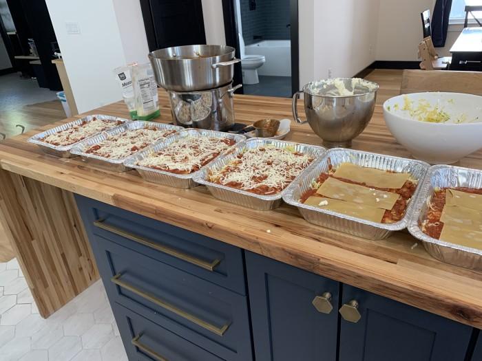 Lasagnas made by Lasagna Love