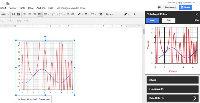 Yob Graph Editor for Google Docs