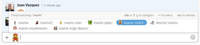 Slack emoji working
