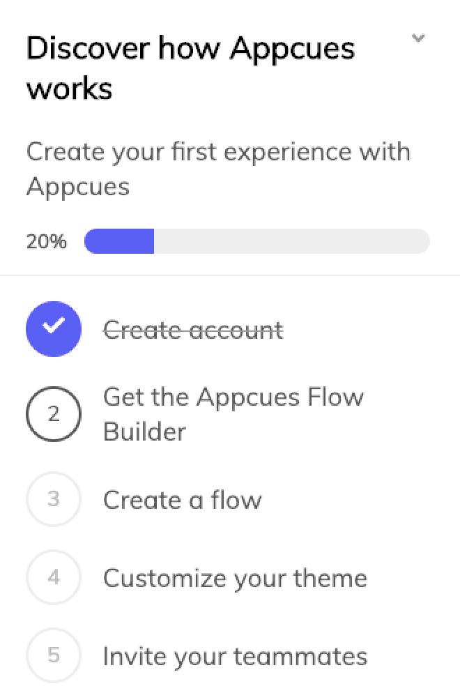 Appcues checklist
