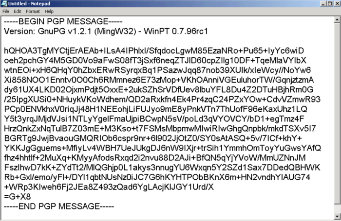 PGP in Notepad