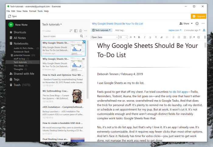 Evernote clipped article simple