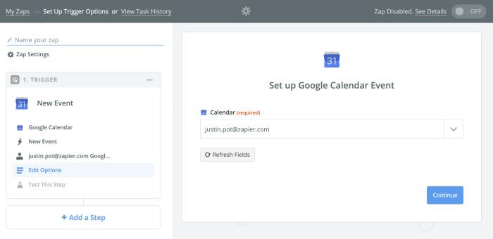 Elija de qué calendario desea copiar eventos