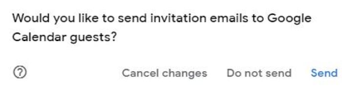 Send invitations?