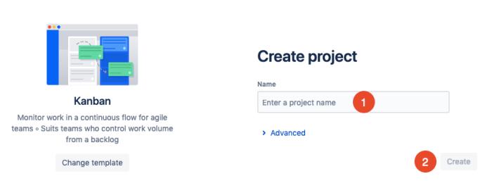 create a new Jira project