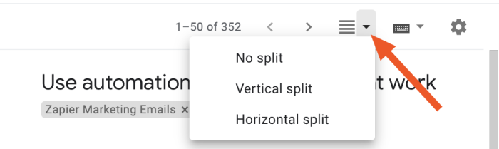 Toggling the preview pane location or turning it off