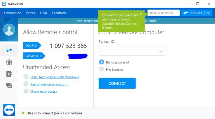 TeamViewer screenshot