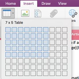 OneNote Tutorial: Insert table in OneNote