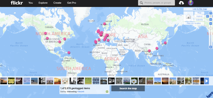 Flickr geosearch