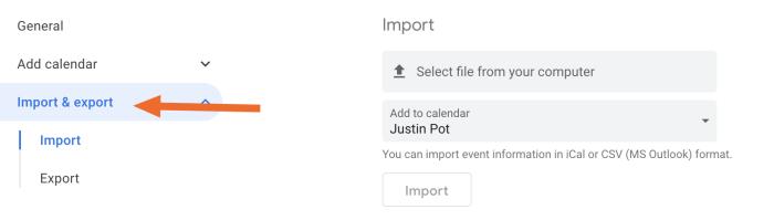 Importar a Google Calendar