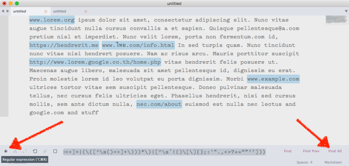 Use regex in Sublime Text to find text, then use the Find All tool to copy every result at once