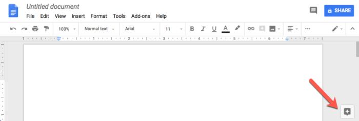 explore feature in Google Docs