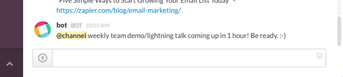 Google Calendar Slack meeting reminder