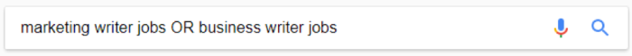Google search for marketing writer jobs OR business writer jobs