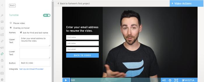 Wistia video hosting interface