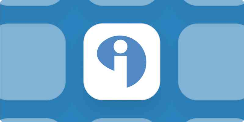 Interact logo on a blue background.