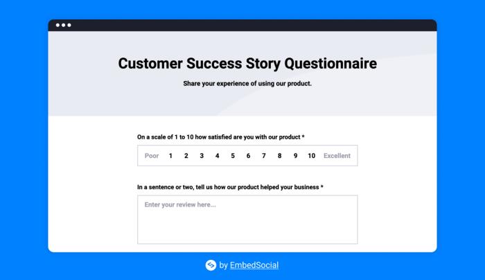 A screenshot of a customer satisfaction survey