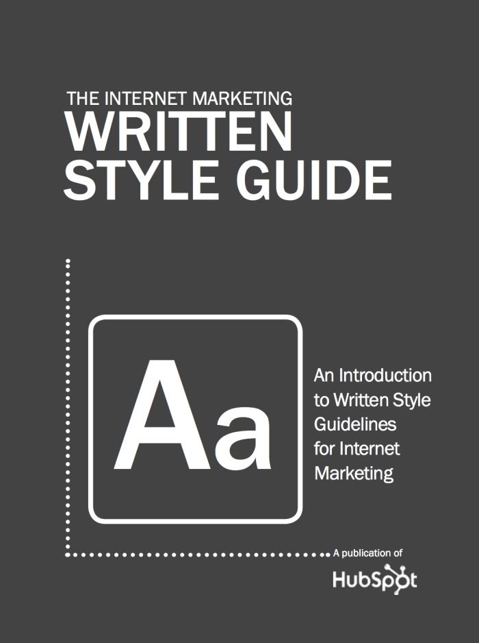 HubSpot style guide eBook